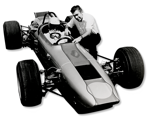 Jim Kellison and formula V car